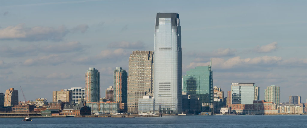 The Goldman Sachs Tower in Jersey City
