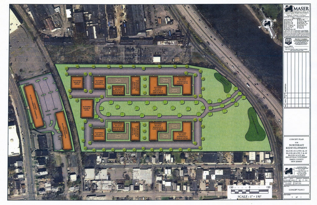 "Second River Station, ""Option 3"". Page 31 of Aug 2014 Maser Consulting development plan."
