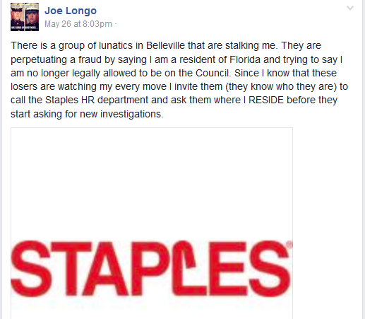 Are Longo and the Belleville Council Defrauding Taxpayers